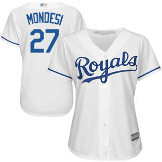 Women's Royals #27 Raul Mondesi White Home Stitched Baseball Jersey