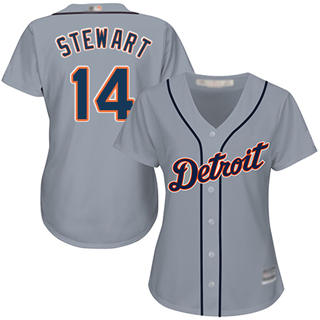 Women's Tigers #14 Christin Stewart Grey Road Stitched Baseball Jersey