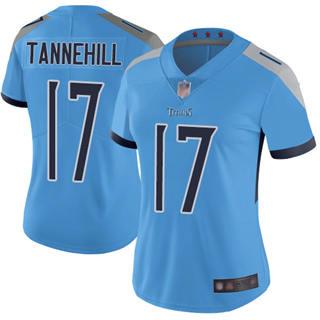 Women's Titans #17 Ryan Tannehill Light Blue Alternate Stitched Football Vapor Untouchable Limited Jersey