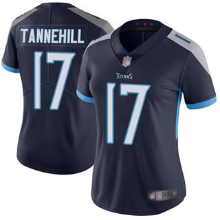 Women's Titans #17 Ryan Tannehill Navy Blue Team Color Stitched Football Vapor Untouchable Limited Jersey