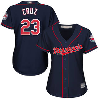 Women's Twins #23 Nelson Cruz Navy Blue Alternate Stitched Baseball Jersey