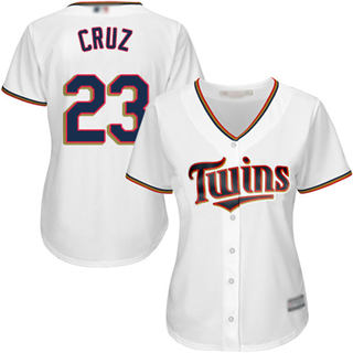 Women's Twins #23 Nelson Cruz White Home Stitched Baseball Jersey