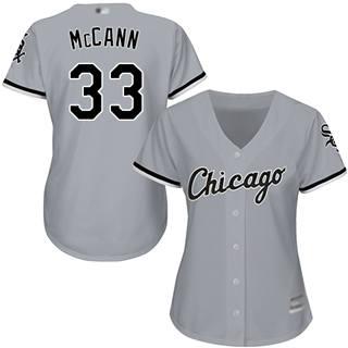 Women's White Sox #33 James McCann Grey Road Stitched Baseball Jersey