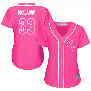 Women's White Sox #33 James McCann Pink Fashion Stitched Baseball Jersey