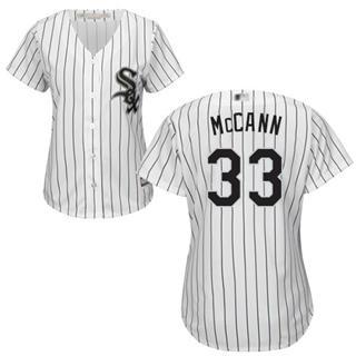 Women's White Sox #33 James McCann White(Black Strip) Home Stitched Baseball Jersey