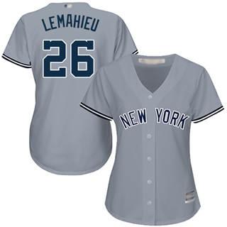 Women's Yankees #26 DJ LeMahieu Grey Road Stitched Baseball Jersey