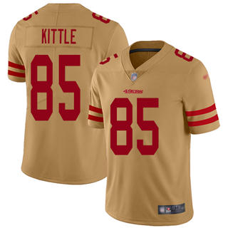 Youth 49ers #85 George Kittle Gold Stitched Football Limited Inverted Legend Jersey