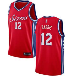 Youth 76ers #12 Tobias Harris Red Basketball Swingman Statement Edition Jersey