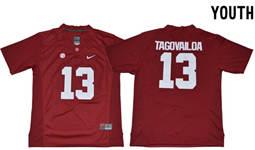 Youth Alabama Crimson Tide #13 Tua Tagovailoa Red Limited Stitched NCAA Jersey