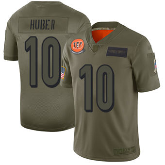 Youth Bengals #10 Kevin Huber Camo Stitched Football Limited 2019 Salute To Service Jersey