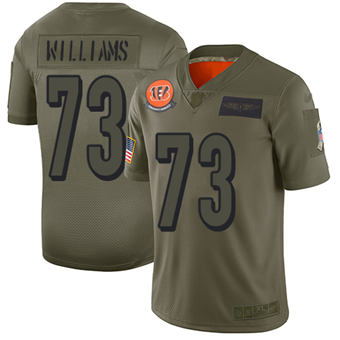 Youth Bengals #73 Jonah Williams Camo Stitched Football Limited 2019 Salute To Service Jersey