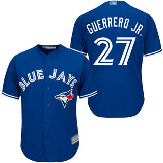 Youth Blue Jays #27 Vladimir Guerrero Jr. Blue Cool Base Stitched Baseball Jersey