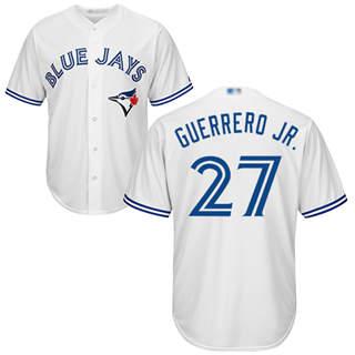 Youth Blue Jays #27 Vladimir Guerrero Jr. White Cool Base Stitched Baseball Jersey
