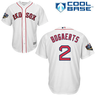 Youth Boston Red Sox #2 Xander Bogaerts White Cool Base 2018 World Series Stitched Baseball Jersey