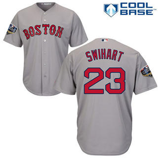 Youth Boston Red Sox #23 Blake Swihart Grey Cool Base 2018 World Series Stitched Baseball Jersey