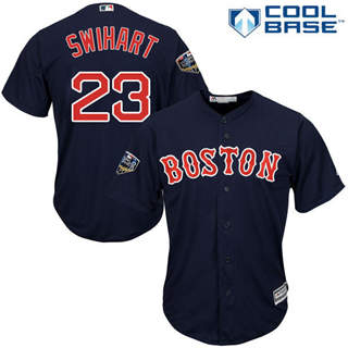 Youth Boston Red Sox #23 Blake Swihart Navy Blue Cool Base 2018 World Series Stitched Baseball Jersey