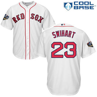 Youth Boston Red Sox #23 Blake Swihart White Cool Base 2018 World Series Stitched Baseball Jersey