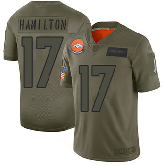 Youth Broncos #17 DaeSean Hamilton Camo Stitched Football Limited 2019 Salute To Service Jersey