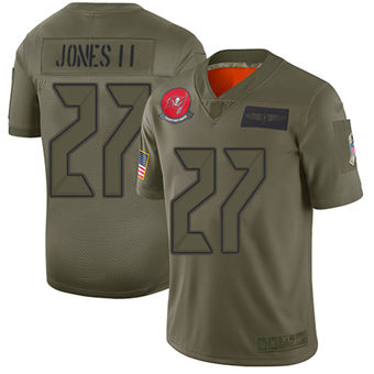 Youth Buccaneers #27 Ronald Jones II Camo Stitched Football Limited 2019 Salute To Service Jersey
