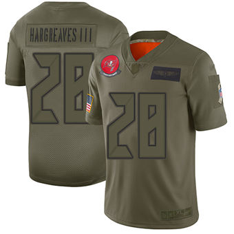 Youth Buccaneers #28 Vernon Hargreaves III Camo Stitched Football Limited 2019 Salute To Service Jersey