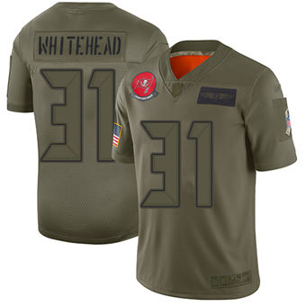 Youth Buccaneers #31 Jordan Whitehead Camo Stitched Football Limited 2019 Salute To Service Jersey