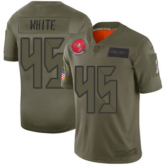 Youth Buccaneers #45 Devin White Camo Stitched Football Limited 2019 Salute To Service Jersey