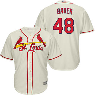 Youth Cardinals #48 Harrison Bader Cream New Cool Base Stitched Baseball Jersey