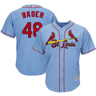 Youth Cardinals #48 Harrison Bader Light Blue New Cool Base Stitched Baseball Jersey