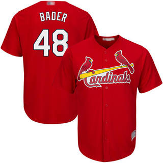 Youth Cardinals #48 Harrison Bader Red New Cool Base Stitched Baseball Jersey