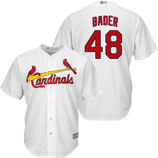 Youth Cardinals #48 Harrison Bader White New Cool Base Stitched Baseball Jersey