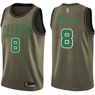 Youth Celtics #8 Kemba Walker Green Basketball Swingman Salute to Service Jersey