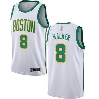 Youth Celtics #8 Kemba Walker White Basketball Swingman City Edition 2018-19 Jersey