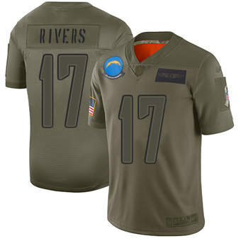 Youth Chargers #17 Philip Rivers Camo Stitched Football Limited 2019 Salute To Service Jersey