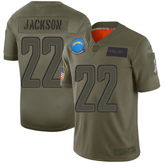 Youth Chargers #22 Justin Jackson Camo Stitched Football Limited 2019 Salute To Service Jersey