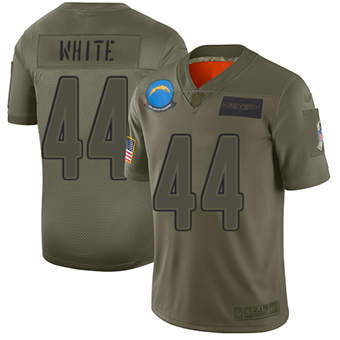 Youth Chargers #44 Kyzir White Camo Stitched Football Limited 2019 Salute To Service Jersey
