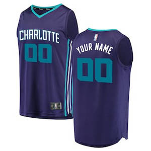 Youth Charlotte Hornets Purple Custom Basketball Jersey - Statement Edition