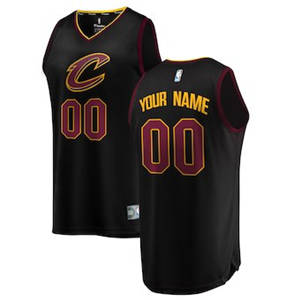 Youth Cleveland Cavaliers Black Custom Basketball Jersey - Statement Edition