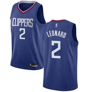 Youth Clippers #2 Kawhi Leonard Blue Basketball Swingman Icon Edition Jersey
