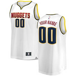 Youth Denver Nuggets White 2018-2019 Custom Basketball Jersey – Association Edition