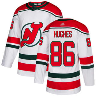 Youth Devils #86 Jack Hughes White Alternate  Stitched Hockey Jersey