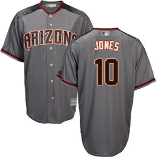 Youth Diamondbacks #10 Adam Jones Gray Road Stitched Baseball Jersey