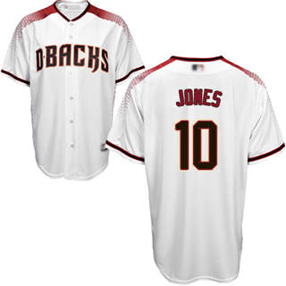 Youth Diamondbacks #10 Adam Jones White Crimson Home Stitched Baseball Jersey