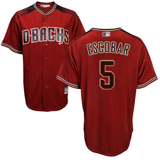 Youth Diamondbacks #5 Eduardo Escobar Sedona Red Alternate Stitched Baseball Jersey