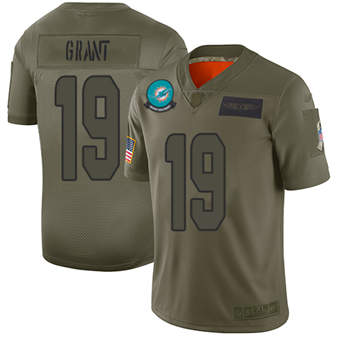 Youth Dolphins #19 Jakeem Grant Camo Stitched Football Limited 2019 Salute To Service Jersey