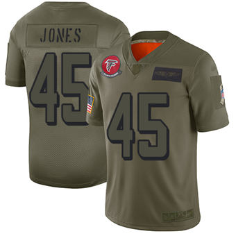 Youth Falcons #45 Deion Jones Camo Stitched Football Limited 2019 Salute To Service Jersey