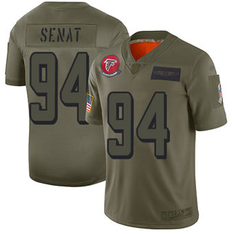 Youth Falcons #94 Deadrin Senat Camo Stitched Football Limited 2019 Salute To Service Jersey