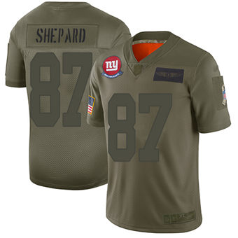 Youth Giants #87 Sterling Shepard Camo Stitched Football Limited 2019 Salute To Service Jersey