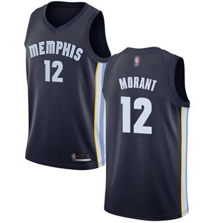 Youth Grizzlies #12 Ja Morant Navy Blue Basketball Swingman Icon Edition Jersey