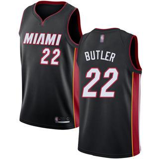 Youth Heat #22 Jimmy Butler Black Basketball Swingman Icon Edition Jersey