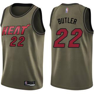 Youth Heat #22 Jimmy Butler Green Salute to Service Basketball Swingman Jersey